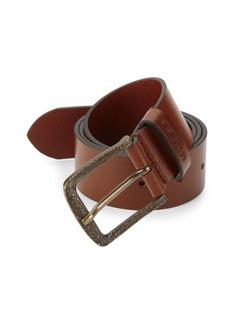 Diesel Min02 Logo-Engrave Buckle Leather Belt