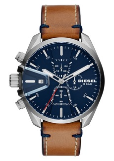 DIESEL® MS9 Chronograph Strap Watch, 47mm