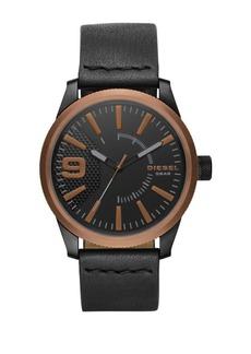 Diesel NSBB Leather-Strap Watch