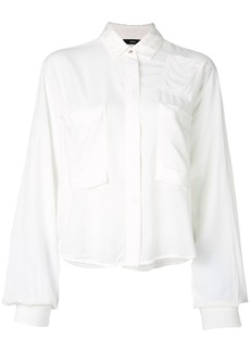 Diesel oversized cropped shirt - White