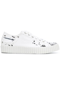 Diesel paint splatter low-top sneakers - White
