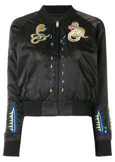Diesel patched bomber jacket - Black