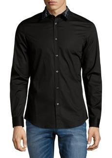 Diesel Patterned Collar Button-Down Shirt