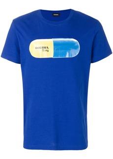 Diesel pill print T-shirt - Blue
