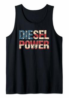 Diesel Power Flag | Truck Turbo Mechanic Tank Top