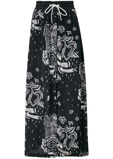 Diesel printed maxi skirt - Black
