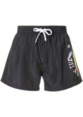 Diesel printed swim shorts - Black