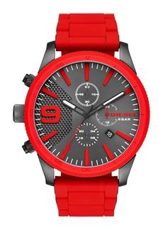 DIESEL® Rasp Chronograph Silicone Strap Watch, 50mm