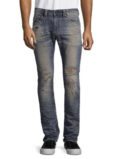 Diesel Ripped Cotton Jeans