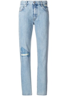 Diesel ripped detail straight jeans - Blue