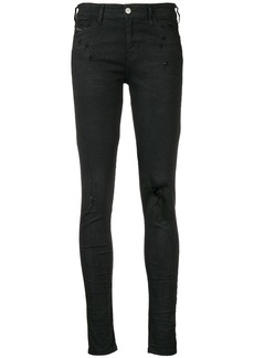 Diesel ripped slim fit jeans - Black