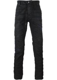 Diesel ruffle detail jeans