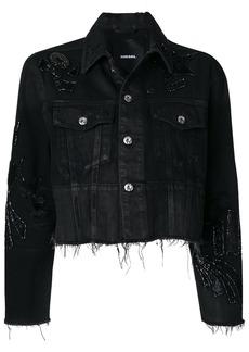 Diesel sequin embellished denim jacket - Black