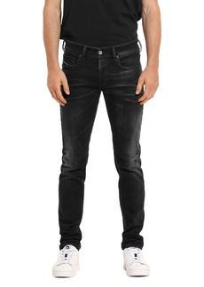 Diesel Sleenker Skinny Fit Jeans in Black Denim