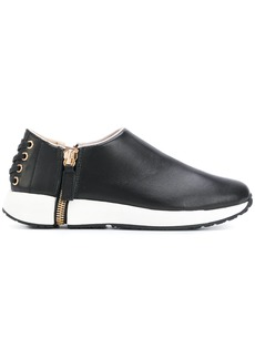 Diesel slip-on side zip sneakers - Black