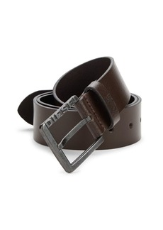 Diesel Square Buckled Leather Belt