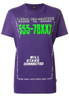 Diesel T-Diego-Di-Fl T-Shirt - Pink & Purple
