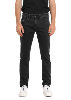 Diesel Thommer Slim Fit Jeans in Black Denim