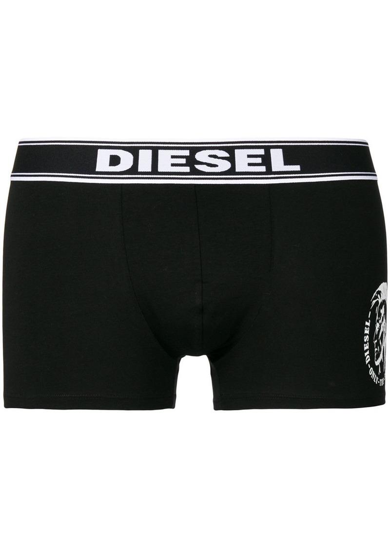 Diesel three pack logo boxers