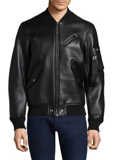 Diesel Wildfire Leather Bomber Jacket