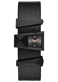 Diesel Women's Caterina Black Leather Strap Watch 31mm
