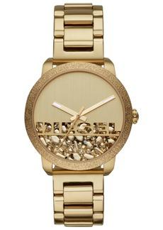 Diesel Women's Flare Rocks Gold-Tone Stainless Steel Bracelet Watch 38mm