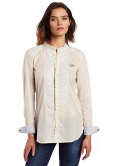 Diesel Women's Mandarin Long Sleeve Shirt