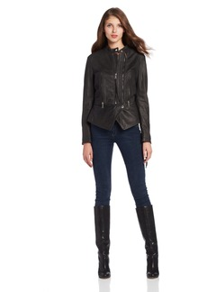 Diesel Women's Pal Leather Jacket with Zips