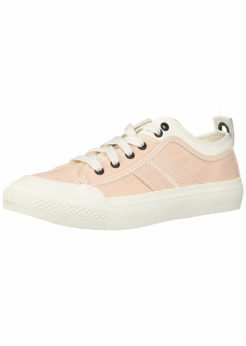 Diesel Women's S-ASTICO Low LACE W-Sneakers Star White/Cream tan  M US