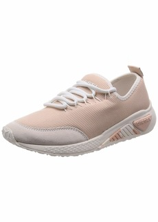 Diesel Women's SKB S-KB LC W-Sneakers Cream tan  M US