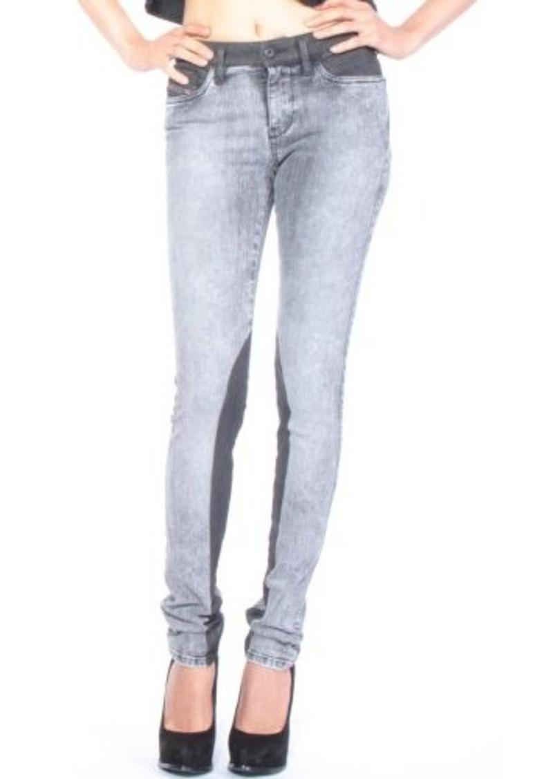 Diesel Women's Skinzee Super Skinny Leg Jean 0825N, Black, 24x32
