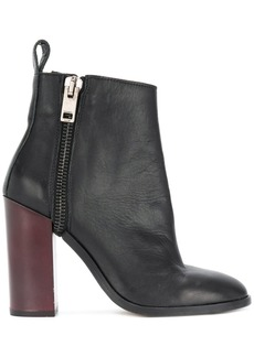 Diesel zip heeled ankle boots - Black