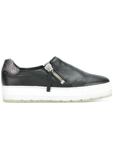 Diesel zip platform sneakers - Black