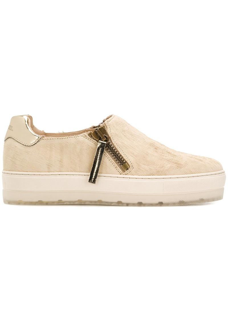 Diesel zip platform sneakers