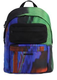 Diesel Digital Print Nylon & Mesh Backpack