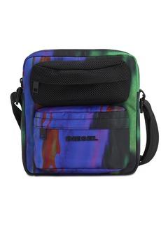 Diesel Digital Print Nylon & Mesh Crossbody Bag