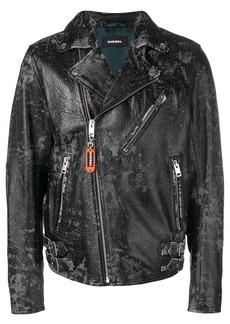 Diesel distressed biker jacket