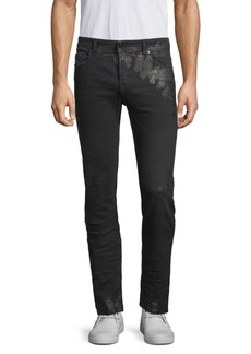 Diesel Distressed Coated Slim-Fit Jeans