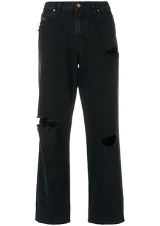 Diesel distressed cropped boyfriend jeans