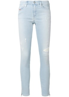 Diesel distressed cropped skinny jeans