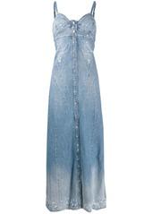 Diesel distressed denim maxi dress
