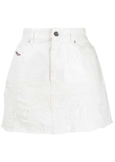 Diesel distressed denim skirt