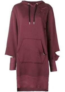 Diesel distressed hoodie dress