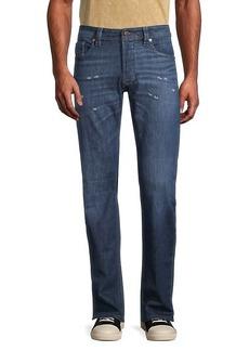 Diesel Distressed Straight-Fit Jeans