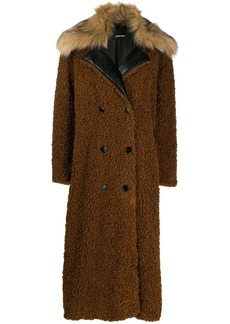 Diesel double breasted teddy coat