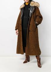 Diesel double breasted teddy coat