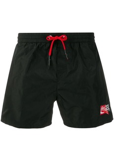 Diesel double logo swim shorts