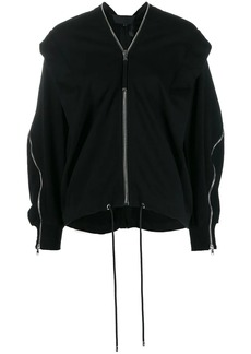 Diesel draped zip-detail jumper