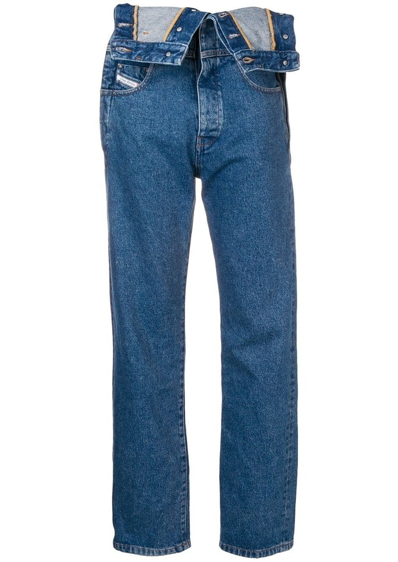 Diesel dungarees-style jeans
