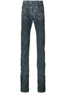 Diesel elongated distressed jeans